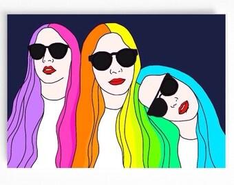 Rainbow Haim Card