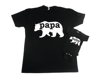 Papa Bear and Baby Bear Shirt Set, Matching Father Son Shirts, Matching Papa Bear Baby Bear, Dad Daughter Shirts, Father Daughter Shirts