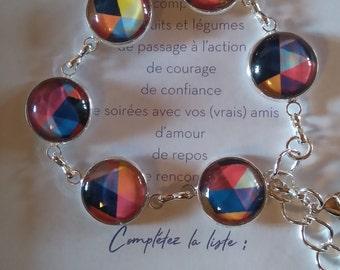 "Bracelet Silver ""geometric design"""
