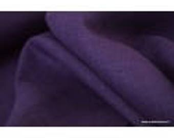 Plum x50cm washed linen fabric