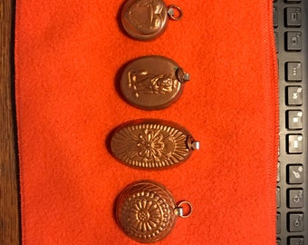Set of 6 Miniature Cooper butter pat molds  bought in 80's  never used