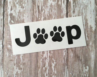 Jeep Paw Print Decal - Jeep Decal - Jeep Accessories - Jeep Stickers - Dog Decal - Laptop Decal - Yeti Decal - Yeti Decal for Women - Jeep