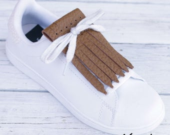 Fringed Leather for Sneakers - Nature Colors