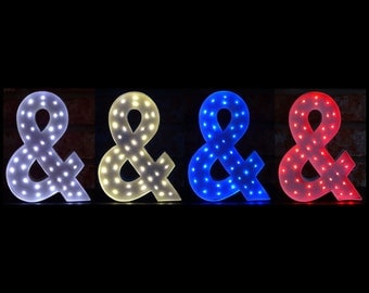 Marquee Letters - Unique Lighted Letters - 8 Inch Paper Mache Letters with Battery Operated LED Fairy Lights - Lighted Home Decor