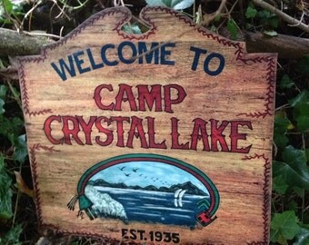 FRIDAY THE 13th Camp Crystal Lake Sign (Weathered Version)