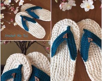Ladies Flip Flop Slippers - Natural Colour Sole
