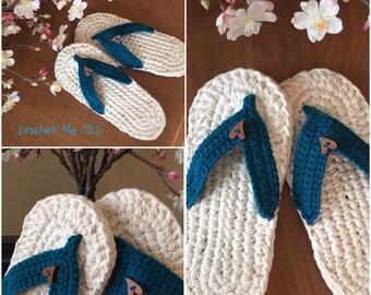 Crochet Flip Flop Slippers, Ladies Flip Flop Slippers, Ladies Slippers, Flip Flop Slippers, Crochet Slippers, Handmade, House Slippers