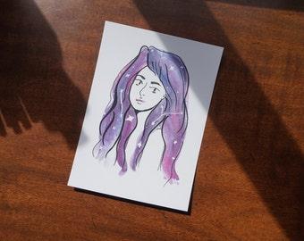 Galaxy Girl (Print)