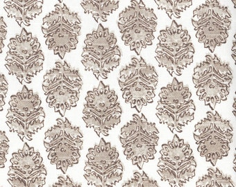 """90"""" Round Tablecloth, Zira Bisque Gray and Taupe with Zira Bisque Topper"""