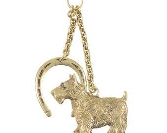Scottie Dog Pendant and Horseshoe Pendant