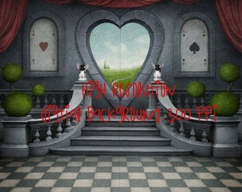 Alice in wonderland inspired background