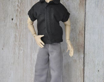 Handmade Clothes for 1/12 male Zjakazumi dolls- shirt