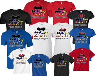 New DISNEY FAMILY VACATION 2017 T-Shirts Disney All Sizes Minnie & Mickey shirts