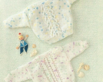 Beautiful Baby Jumper 16 to 22 inch Knitting Pattern.