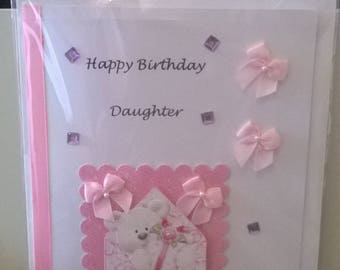 Daughter handmade Birthday card