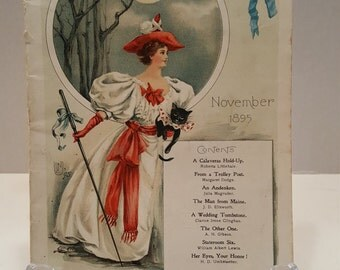Victorian The Black Cat Magazine November 1895