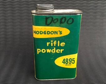 Hodgdon's Rifle Powder 4895 Tin Can Green Vintage
