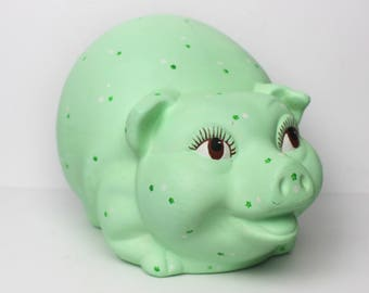 Giant Lime Green Plaster Piggy Bank