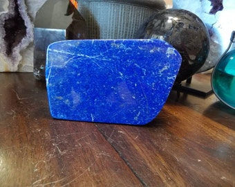 Deep Blue Polished Lapis Lazuli  Freeform from Afghanistan   Lapis Paper Weight   Home Decor   Healing Crystal   Mineral Specimen #19