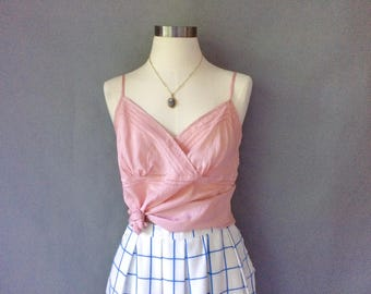 vintage 100% silk pink/blush camisoles/cami size S/M