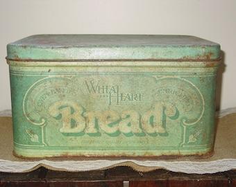 Vintage Wheat Heart Brand Bread Box