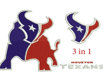 Embroidery Design Houston Texans 3|4 sizes (3 in1) Download Machine embroidery design