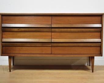 Bassett Walnut and Formica Dresser