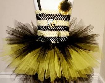 Bee tutu dress, Tutu dress, Birthday dress, Party dress, Black And Yellow dress