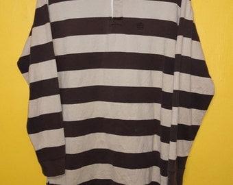 Vintage Supreme polo stripes  Polo Rugby Shirt Medium size