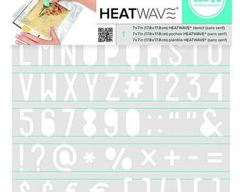 Heatwave stencil Sans Serif, 19 x 19 cm code: NM-WRHS7X7-62661