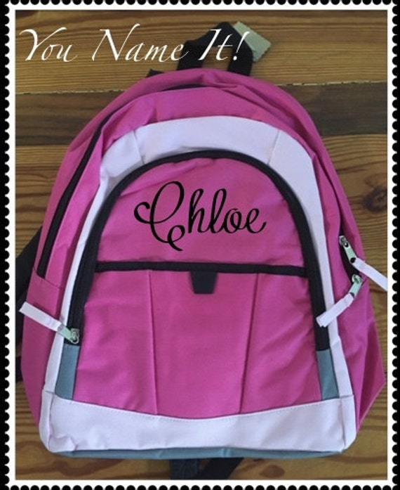 Pink with Black Trim Backpack