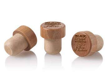 12 pcs Eat Drink and be Married Personalized Wine Cork Stopper - DGI22-A22