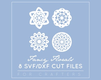 Flower SVG / DXF / EPS Cut Files - Floral Vector Files - Cricut Explore - Cut Files - Paper Craft Simple Flower Clipart Instant Download