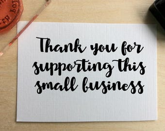 Supporting small business them you rubber stamp. Thank your customers with ease by using this stunning stamp.
