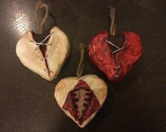 Heart Shaped Medical Oddity Trinket/Jewellery/Gift Box (Horror, Macabre, Morbid, Gore, OOAK, Autopsy, Postmortem, Dissection, Human Flesh)