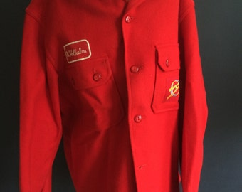Vintage Boy Scout of America Red Wool Jacket