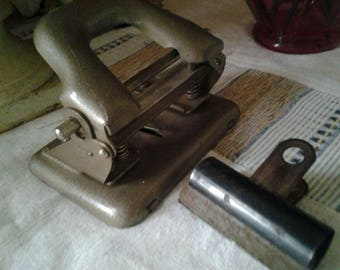 Vintage Hole Punch and Bull Clip