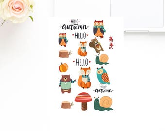 Hello Autumm Sticker Kit