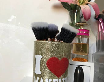 I LOVE MAKEUP brush holder