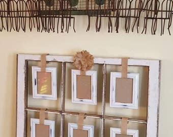 vintage antique farm window sash frame 6 pane 28x24 distressed shabby chic chippy rustic burlap hanging picture frames beautiful