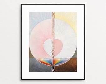 Hilma af Klint, Group IX/UW No. 25, The Dove, No. 1 - Abstract Rainbow Wall Art - Giclee - Pink - Modern Home Decor - Geometric Art Print