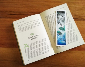 Stormy Seas Watercolour Bookmark