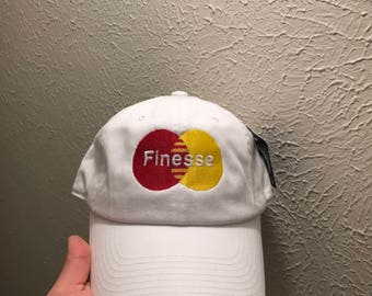 Finesse Embroidered Dad Hat Strapback Cap