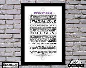 Rock Of Ages - Framed - Quotes - Lyrics - Typography Print