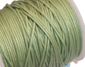 5 metres waxed cotton cord 0, 5 mm Green