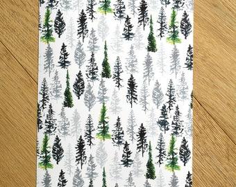 Tree Print - Fir Tree - Tree Art - Tree Painting - Home Decor - Art Prints - Wall Art - Pattern