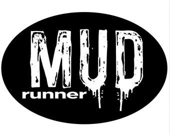 Mud Runner Oval Magnet