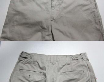 Comme Des Garcons Homme Khaki Officer pants cotton twill