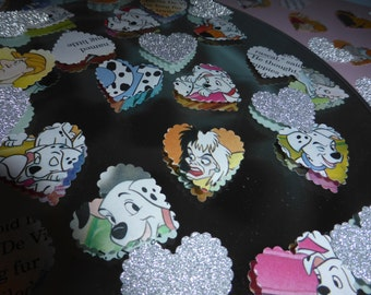 Disney 101 Dalmations Large Paper hearts table confetti Wedding Party Decorations MUST SEE!!!!