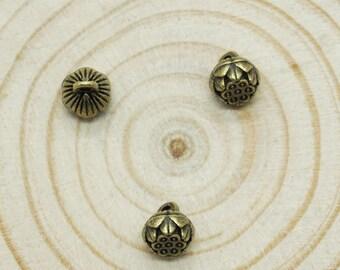 30pcs Antique bronze lotus Charm Pendants  / accessory DIY 6mm x 8mm (507-60)
